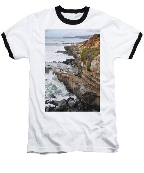Sunset Cliffs San Diego Portrait Baseball T-Shirt