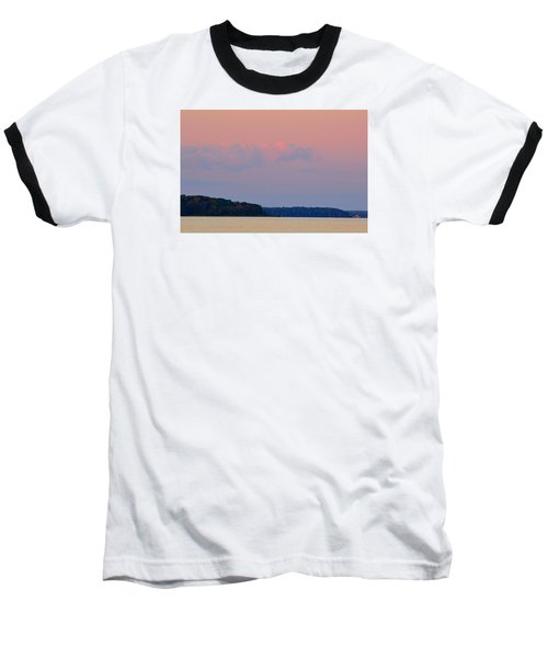 Baseball T-Shirt featuring the photograph Sunset Clouds In The East 2  by Lyle Crump