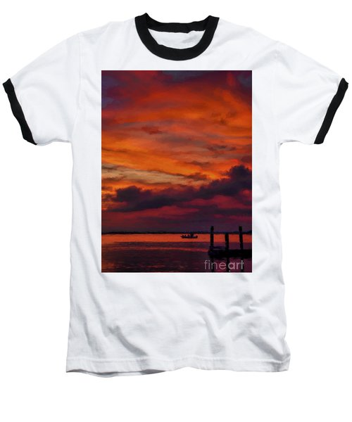 Sunset Cruise  Baseball T-Shirt