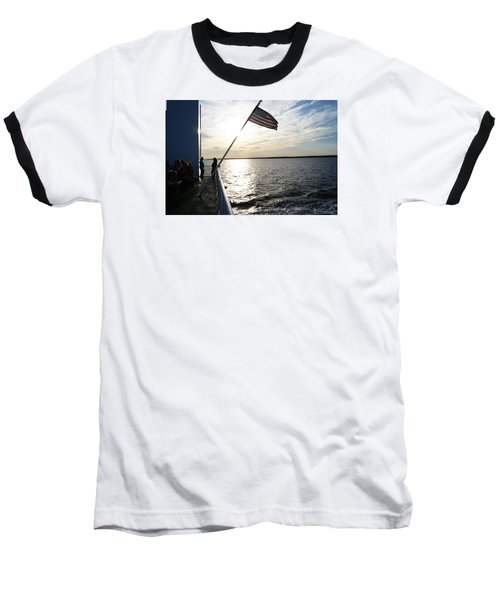 Sunset Cruise Baseball T-Shirt by Margie Avellino