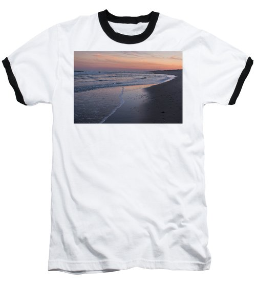 Baseball T-Shirt featuring the photograph Sunset Fishing Seaside Park Nj by Terry DeLuco