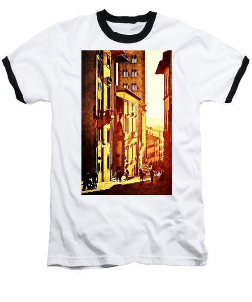 Sunset In Arezzo Baseball T-Shirt by Andrea Barbieri