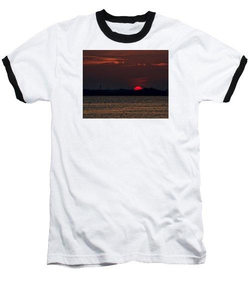 Sunset In Biloxi 3 Baseball T-Shirt