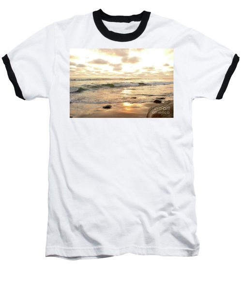 Sunset In Golden Tones Torrey Pines Natural Preserves #2 Baseball T-Shirt by Heather Kirk