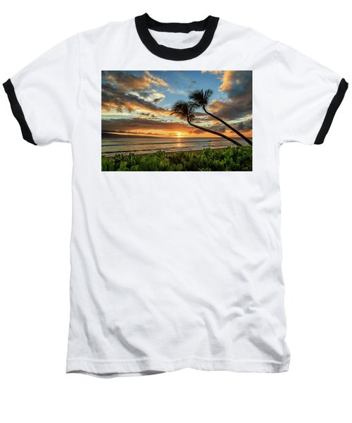 Sunset In Kaanapali Baseball T-Shirt by James Eddy