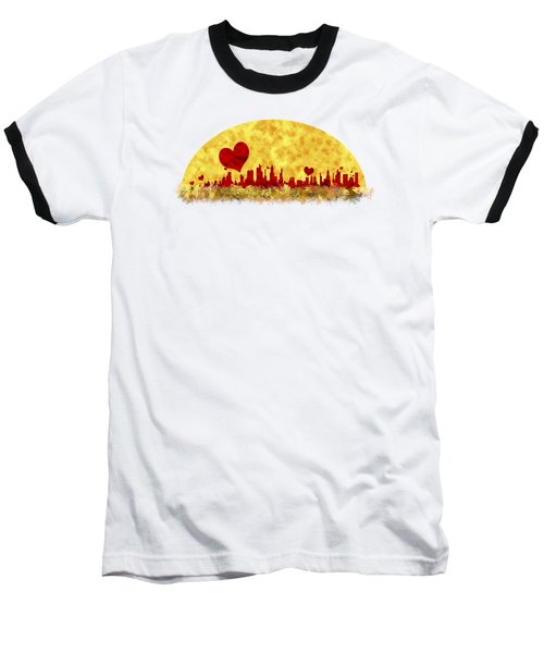 Sunset In The City Of Love Baseball T-Shirt by Anton Kalinichev