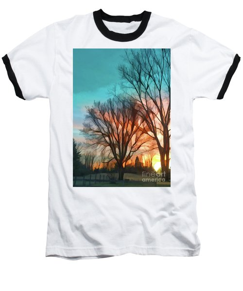 Sunset In The Country Baseball T-Shirt