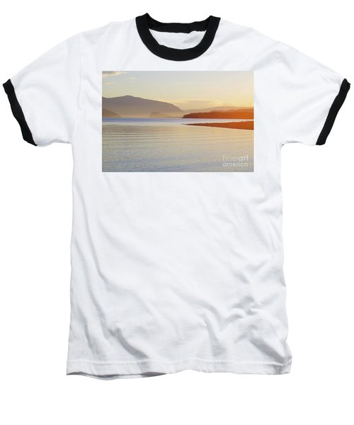 Sunset In The Mist Baseball T-Shirt by Victor K