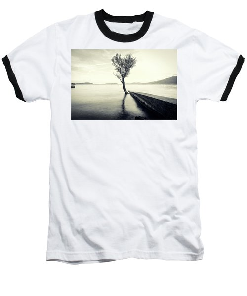 Sunset Landscape With A Tree In The Background Immersed In The L Baseball T-Shirt
