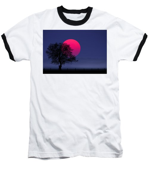 Sunset Magenta Baseball T-Shirt
