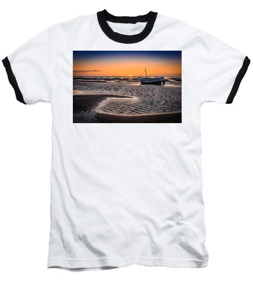 Sunset, Meols Beach Baseball T-Shirt