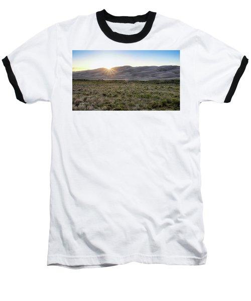 Sunset On The Dunes Baseball T-Shirt by Monte Stevens