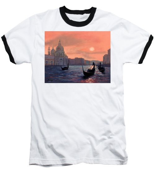 Sunset On The Grand Canal In Venice Baseball T-Shirt