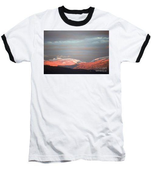 Baseball T-Shirt featuring the photograph Sunset On The Monashees by Victor K
