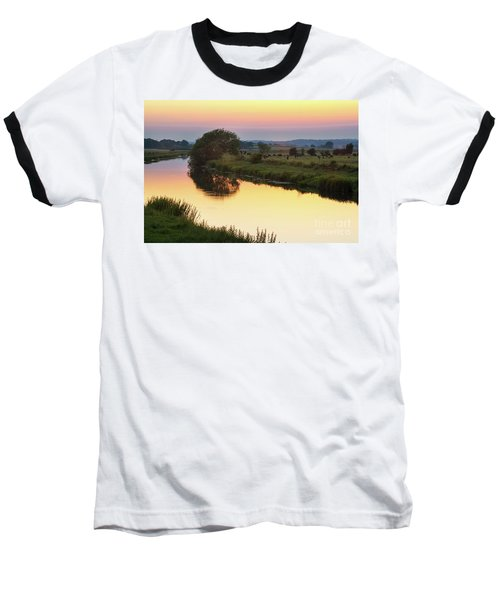 Baseball T-Shirt featuring the photograph Sunset On The River by Perry Rodriguez