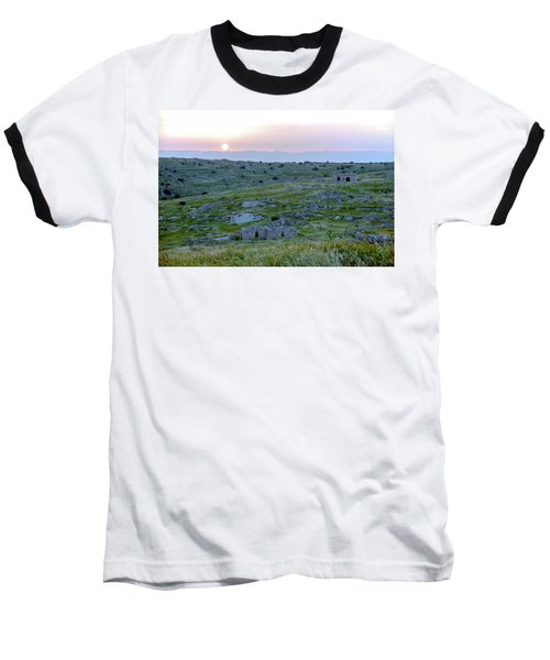Sunset Over A 2000 Years Old Village Baseball T-Shirt
