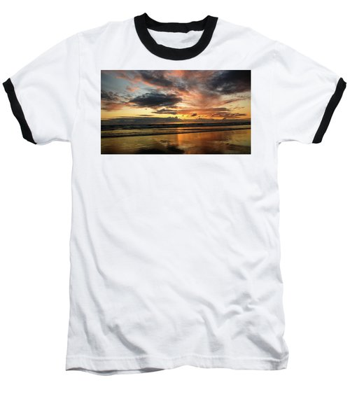 Sunset Split Baseball T-Shirt