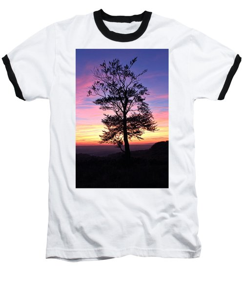 Sunset Tree Baseball T-Shirt by RKAB Works