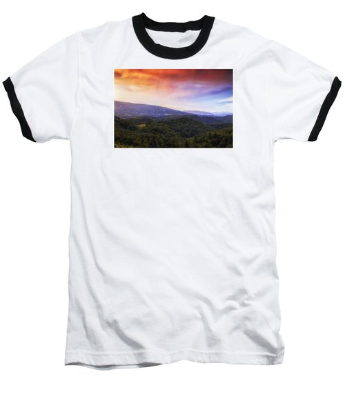 Baseball T-Shirt featuring the photograph Sunset View Of The Blue Ridge by Andrew Soundarajan