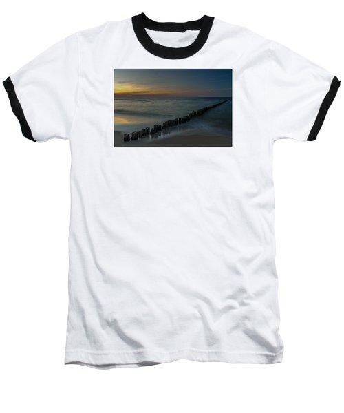 Sunset Zen Mood Seascape Baseball T-Shirt by Julis Simo