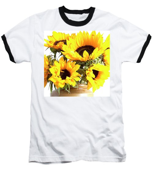 Sunshine Sunflowers Baseball T-Shirt