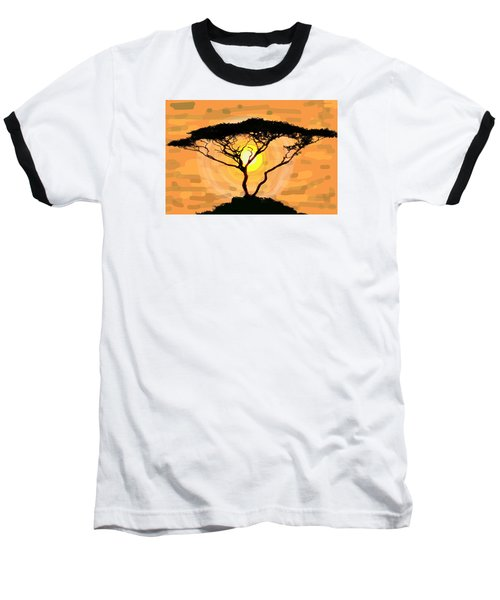 Baseball T-Shirt featuring the painting Suntree by Patricia Arroyo