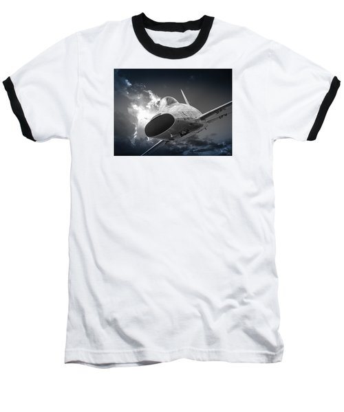 Super Sabre Rolling In On The Target Baseball T-Shirt