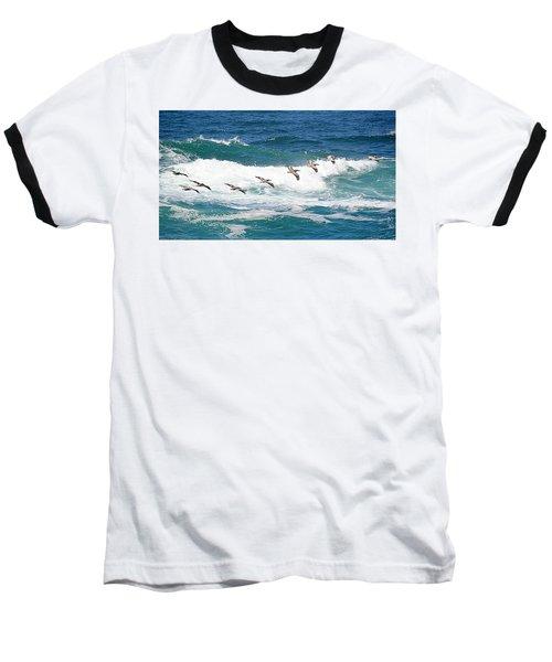 Surf And Pelicans Baseball T-Shirt