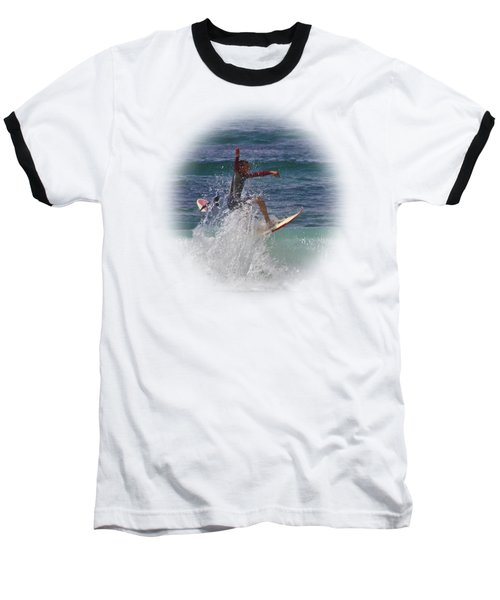 Surf Dude On Transparent Background Baseball T-Shirt