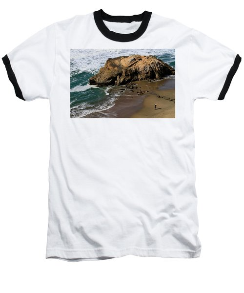 Surf Fishing At Ocean Beach Baseball T-Shirt