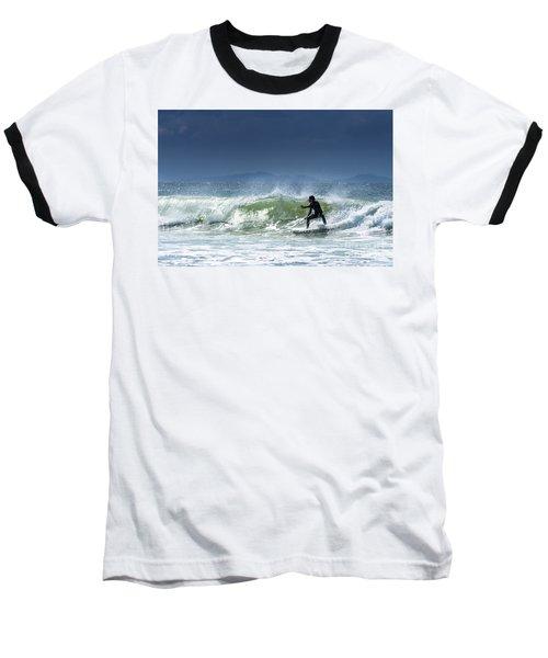 Surfing At Byron Bay Baseball T-Shirt