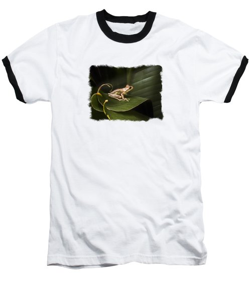 Surfing The Wave Bordered Baseball T-Shirt