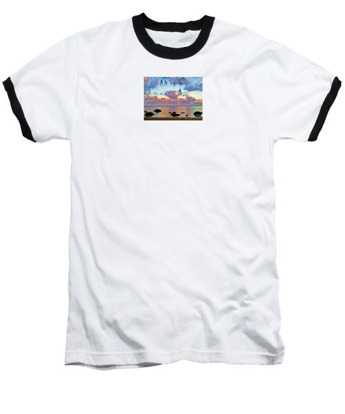 Surreal Sunset Baseball T-Shirt by Michele Penner