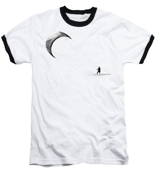 Surreal Surfing Mono On Transparent Background Baseball T-Shirt