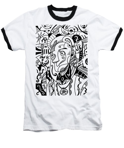 Surrealism Philosopher Black And White Baseball T-Shirt