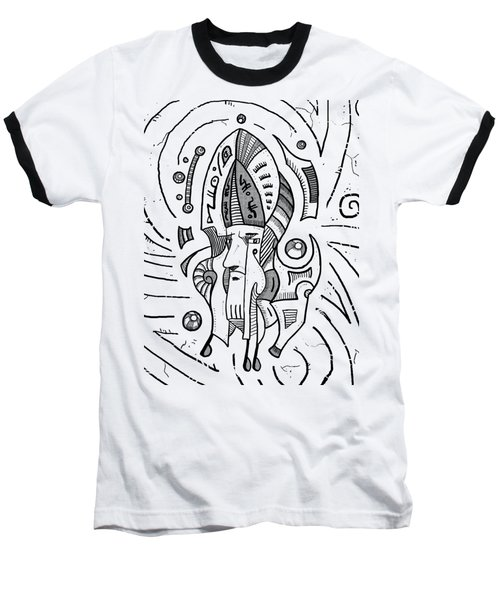 Surrealist Head Baseball T-Shirt