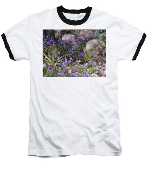 Surrounded By Purple Flowers Baseball T-Shirt