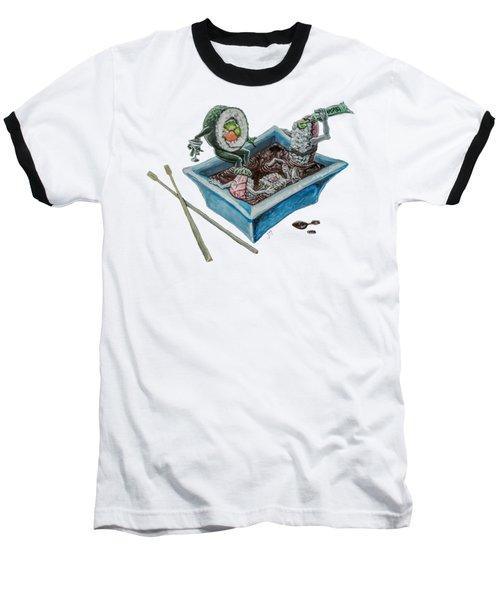 Baseball T-Shirt featuring the painting Sushi Party by Jennifer Hotai