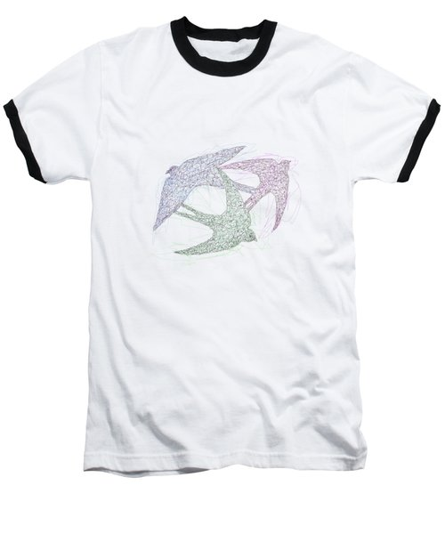 Swallow Birds Motion Design  Baseball T-Shirt