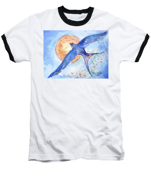 Baseball T-Shirt featuring the painting Swallows Return  by Trudi Doyle
