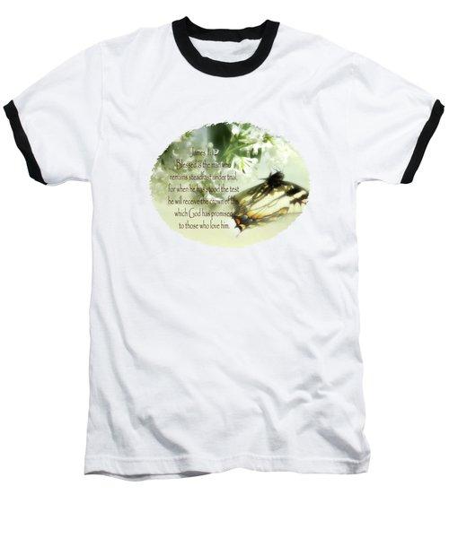 Swallowtail And Lilac Baseball T-Shirt by Anita Faye