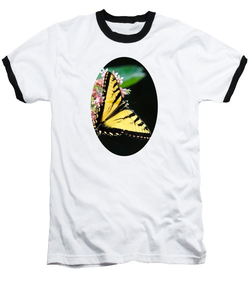 Swallowtail Butterfly And Milkweed Flowers Baseball T-Shirt