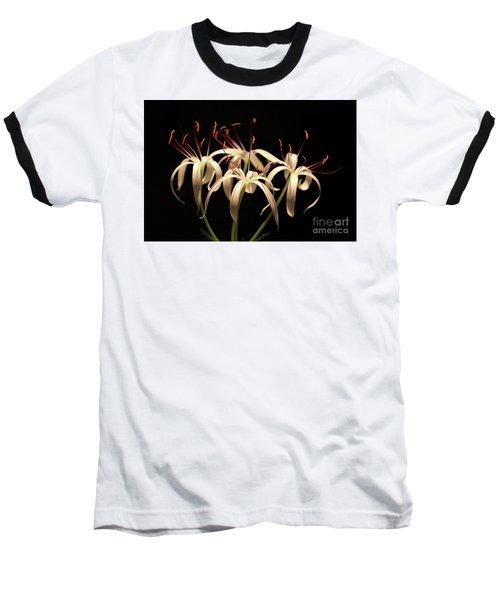 Swamp Lily Baseball T-Shirt by Meg Rousher
