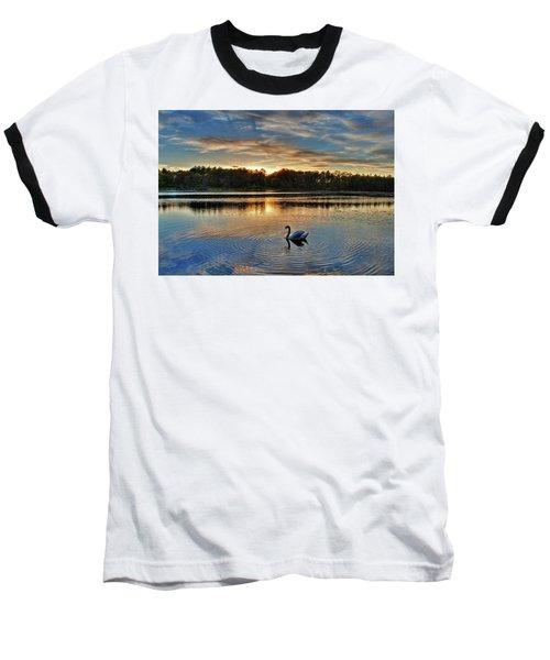 Swan At Sunset Baseball T-Shirt