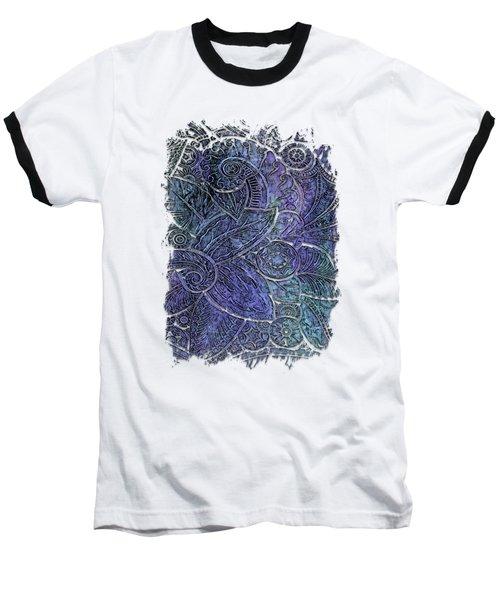 Swan Dance Berry Blues 3 Dimensional Baseball T-Shirt