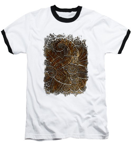 Swan Dance Earthy 3 Dimensional Baseball T-Shirt by Di Designs