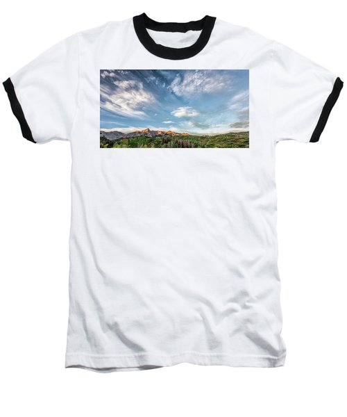 Baseball T-Shirt featuring the photograph Sweeping Clouds by Jon Glaser