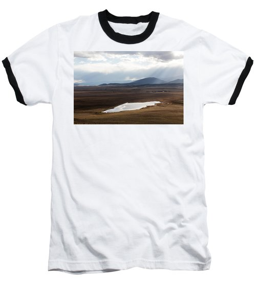 Sweeping Plain And A Small Lake Between Mountain Foothills Near Fairplay In Park County Baseball T-Shirt by Carol M Highsmith