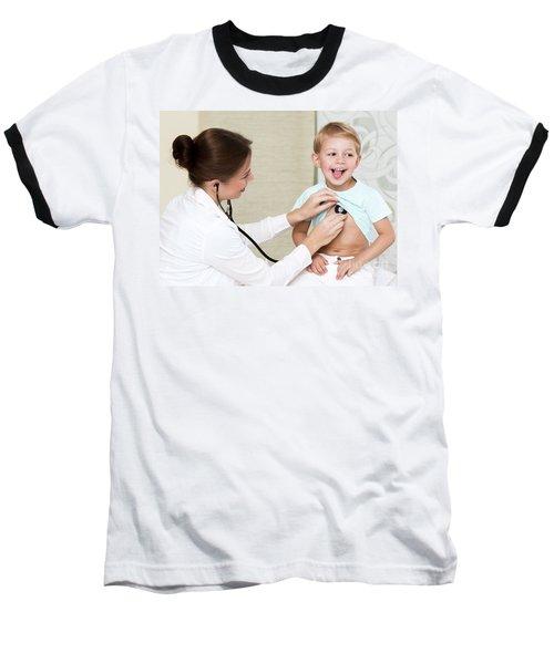 Sweet Child Visiting Doctor Baseball T-Shirt