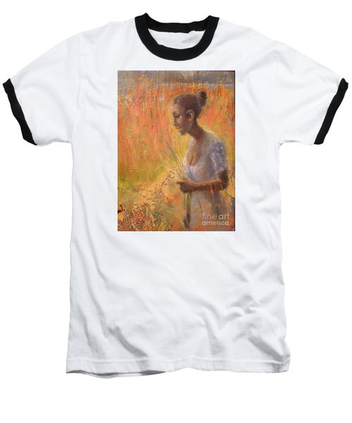 Baseball T-Shirt featuring the painting Sweet Grass by Gertrude Palmer